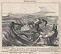 Comment..., flots impudents!... vous ne savez donc pas qui vous portez en ce moment,...., from Émotions Nautiques, published in Le Charivari, October 26, 1859 MET DP876781.jpg