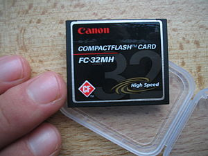 A 32 MB High Speed CompactFlash Type I card