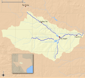Concho River - Image: Concho Watershed