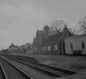 North Devon Railway - Copplestone station in 1969