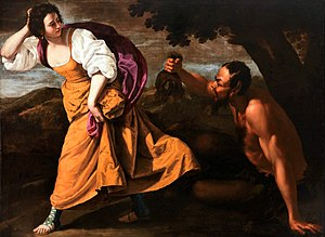 Corisca and the Satyr by Artemisia Gentileschi