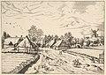 Country Village with Post Mill from Multifariarum casularum ruriumque lineamenta curiose ad vivum expressa MET DP825661.jpg