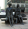 Couple on Seat by Lynn Chadwick, Cabot Square.jpg