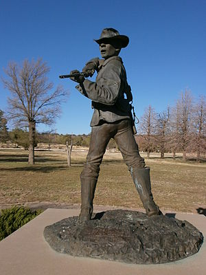 Clinton Greaves - Statue of Corporal Greaves at Ft. Bayard, New Mexico