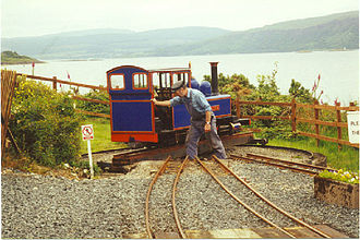 Ten and a quarter inch gauge - At Craignure station on the Isle of Mull Railway