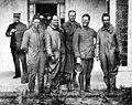 Crew of the N.C.3 at Ponta Delgada in the Azores, after transatlantic flight, May 1919.jpg