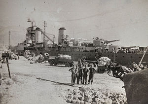 Haiphong incident - The French cruiser Suffren in Toulon, 21 September 1945.