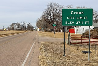 Crook, Colorado Statutory Town in State of Colorado, United States