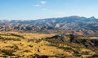 Mount Judi - The mountain range, seen from Şırnak.
