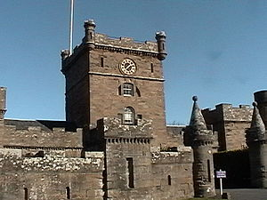 Culzean Castle - Entrance to the clock tower courtyard