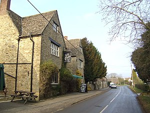 Cumnor - The Bear and Ragged Staff public house.