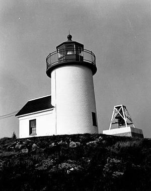 Curtis Island Light - US Coast Guard photo