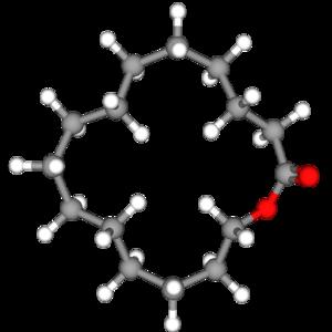 Cyclopentadecanolide - Image: Cyclopentadecanolide 3d