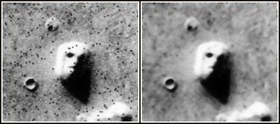 Foto original del Viking de la 'Cara de Marte'