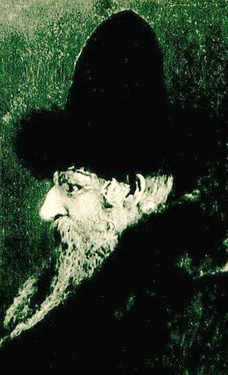 Shtreimel - Portrait of David Moses Friedman of the Chortkov dynasty wearing the unique shtreimel of the Ruzhin dynasty