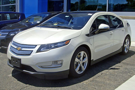 The Chevrolet Volt, a series plug-in hybrid, ranks as the U.S. all-time top-selling plug-in electric car with 148,556 units sold through October 2018. DCA 06 2012 Chevy Volt 4035.JPG