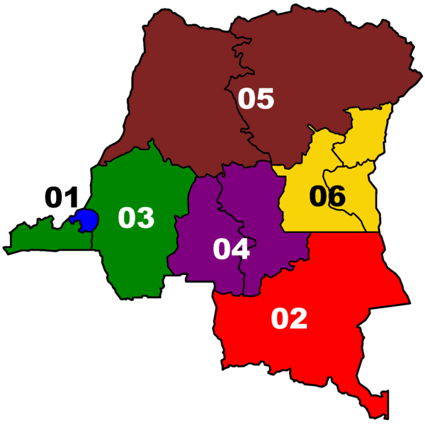 Area Codes of the Democratic Republic of the Congo by By Eruedin (Own work) [CC-BY-3.0 (http://creativecommons.org/licenses/by/3.0)], via Wikimedia Commons