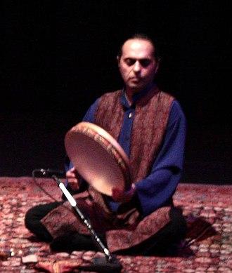 Dayereh - Iranian percussionist Majid Khalaj playing the dayereh