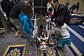 Dan Dozier explains how a human-powered submarine is operated during the 2017 Naval Stem Exposition. (33685797071).jpg
