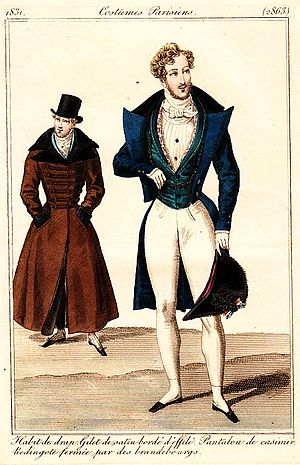 Redingote - Image: Dandies of 1831