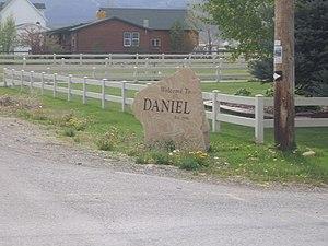 Daniel, Utah - Daniel welcome sign, May 2010