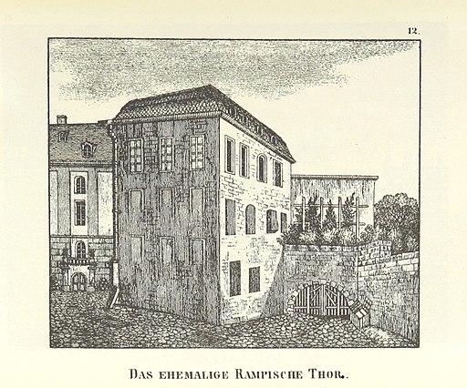 Das ehemalige Rampische Thor um 1830