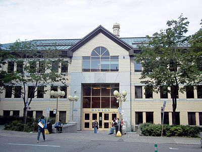 The De Maisonneuve Entrance Of Dawson College