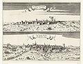 De verovering van Valkenburg en Dalheim, 1644 De Stadt Valkenburg Overvallen Anno 1644 De Stadt Dalen Verrast Anno 1644 (titel op object), RP-P-OB-81.531.jpg
