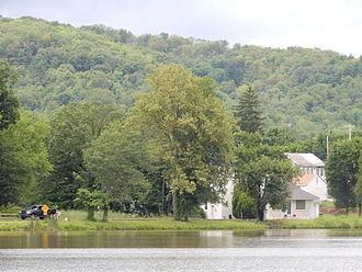Deer Lake, Pennsylvania - Deer Lake Pond, view on east coast.