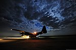 Defense.gov News Photo 120607-F-CA540-231 - A U.S. Air Force C-130 Hercules pauses on the runaway during air mobility operations at Holland Drop Zone on Fort Bragg N.C. on June 7 2012. The.jpg