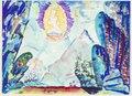 Dekorationsskiss av Isaac Grünewald - Guden och badajären - SMV - DTM 2000-0039.tif