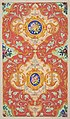 Design for wallpaper featuring strapwork, rinceaux, and cartouches filled with bouquets of roses MET DP811323.jpg