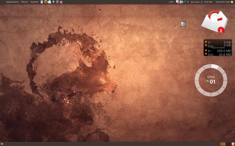 Desktop with screenlets(ubuntu)