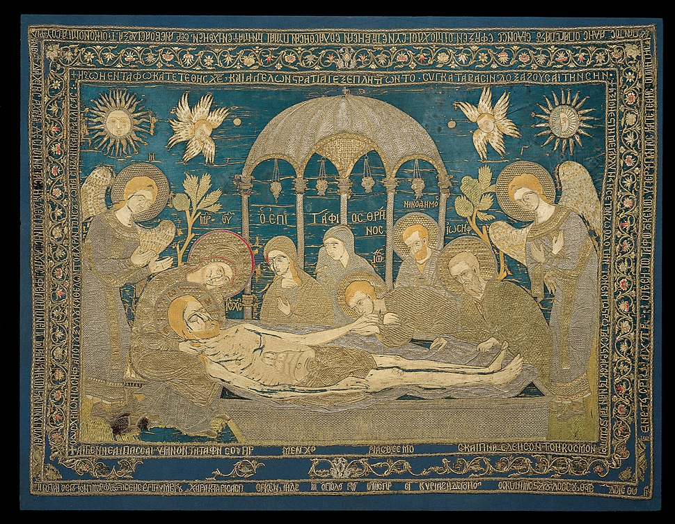 Despoineta - Gold-thread embroidered and inscribed epitaphios - Google Art Project