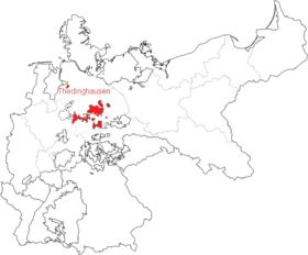 Lage des Herzogtums Braunschweig im Deutschen Kaiserreich