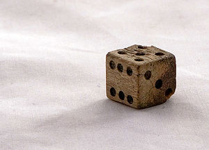 Dice - Bone die found at Cantonment Clinch (1823–1834), a fort used in the American Civil War