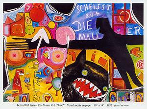 Norbert Blei - 'Torso,' Berlin Wall Series