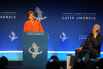 Clinton Foundation - President of Brazil Dilma Rousseff opens Clinton Global Initiative Latin America in Rio de Janeiro, 2013