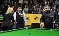 Ding Junhui, Maike Kesseler and Marcus Campbell at Snooker German Masters (DerHexer) 2013-01-31 02.jpg