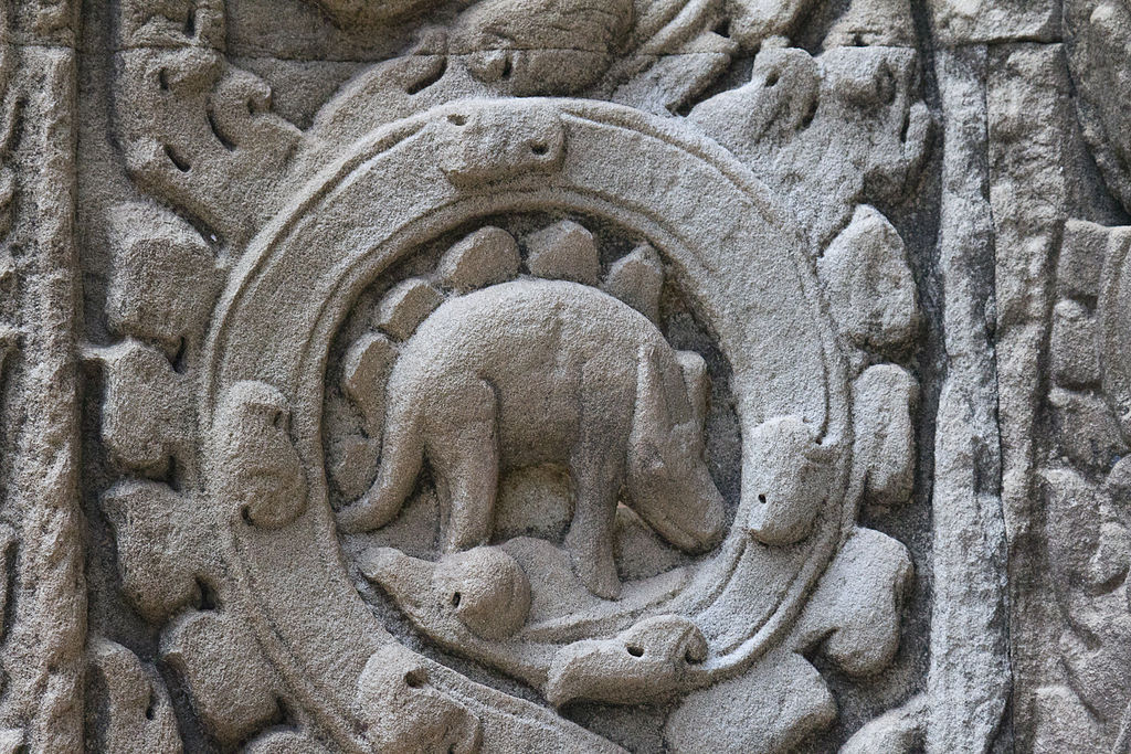 File dinosaur carving at ta prohm temple siem reap