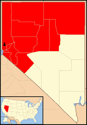 Roman Catholic Diocese of Reno - Image: Diocese of Reno map 1