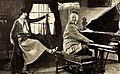 Director Harold Shaw rehearsing actress Viola Dana for 1923 film Rouged Lips.jpg