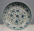 Dish with underglaze blue design of interlaced flowers, Jingdezhen ware, Xuande Reign 1426-1435, Ming, Shanghai Museum.jpg