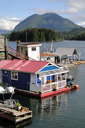Docks and Houseboat at Jamie's Whaling Station - Tofino - Vancouver Island BC - Canada - 01.jpg