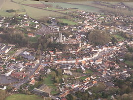 An aerial view of Domart-en-Ponthieu