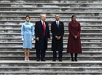 Donald Trump, Barack Obama, Melania Trump, Michelle Obama at U.S. Capitol 01-20-17.jpg