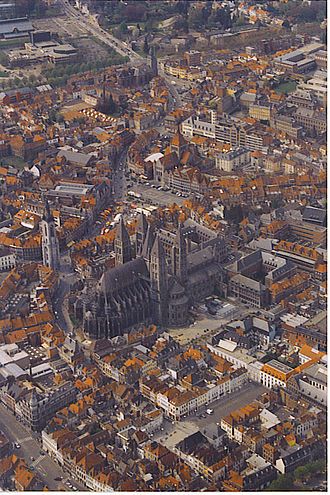 Roman Catholic Diocese of Tournai - Aerial view of Tournai Cathedral