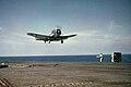 Douglas SBD Dauntless landing aboard USS Ranger (CV-4), circa in June 1942 (NNAM.1996.488.021.023).jpg