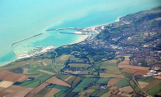 Dover town and major ferry port in Kent, South East England