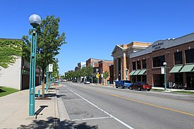 Downtown Adrian along Maumee Street